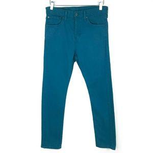 Levi's 510 Teal Jeans High Waist Skinny